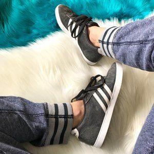 Adidas Neo Courtset Gray & White Sneakers
